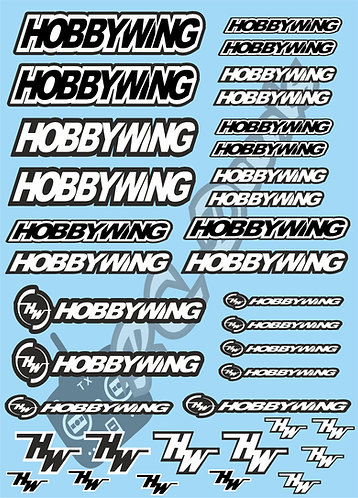Hobbywing Decals Choice of Colours Available