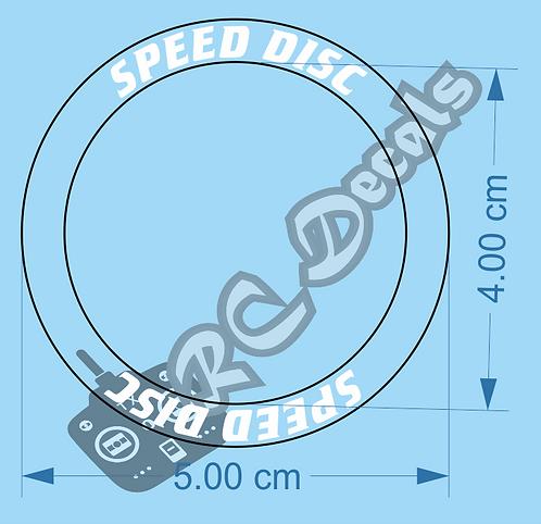 Tamiya Madcap Speed Disc Wheel Decals various colours