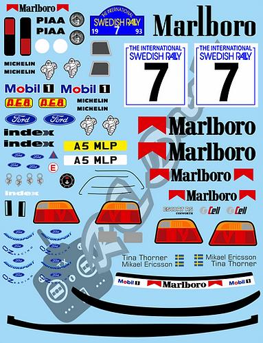 1/10 Decal Rally Set Ford Escort Cosworth - Marlboro Livery