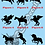 Thumbnail: Unicorns Silhouettes - Choice of Colours