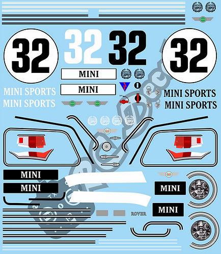 1/10 Mini Copper Racing Sport Decals