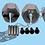 Thumbnail: Alloy 12mm x 7mm Wheel Hex Hub Adapter