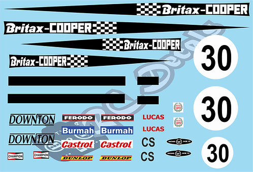 1/10 Mini Decal Set - Britax Mini Cooper