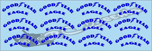 1/10 F1 Tires logos - Goodyear - Blue