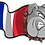 Thumbnail: Name Stickers with International Skulls & Bulldogs Flags