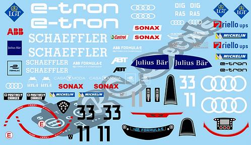 Formula -E Audi Sport ABT Schaeffler Audi e-tron FE07