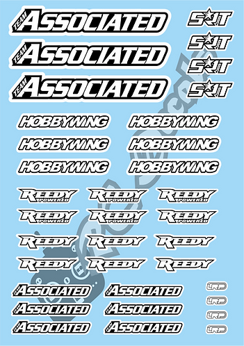 Associated - SRT - Hobbywing - Reedy - LRP Decals Choice of Colour
