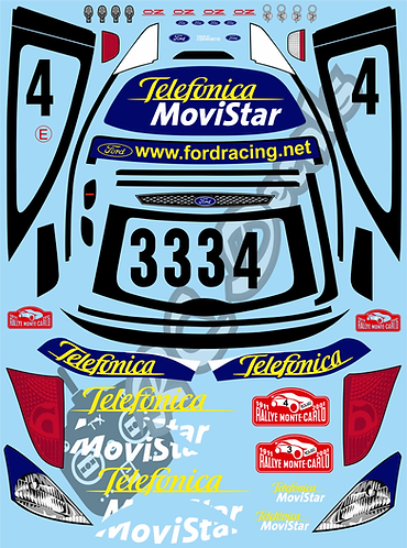 1/10 Decal Rally Set Ford Focus RS WRC 2001