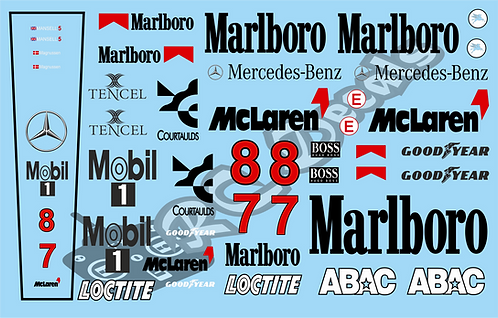F1 1/10 Decal Mclaren MP4 10B 1995  - Choice of tyre logo