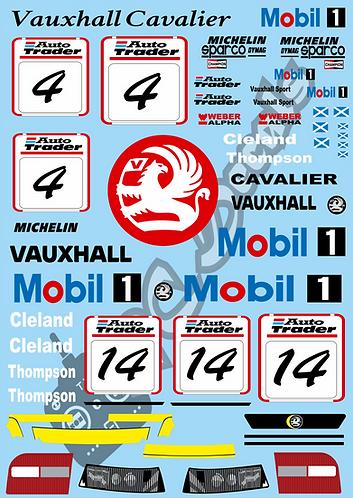 1/10 Touring Car Decal Sticker Set BTCC Vauxhall Cavalier 1995