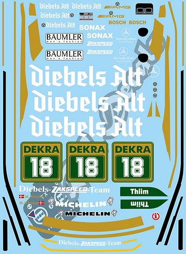 1/10 Touring Car Decal Sticker Set DTM Mercedes 190E - Diebels