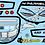 Thumbnail: Customise GT12 BittyDesign LS3 Window frame & Lights Set Choice or Colour