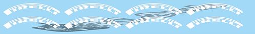 1/8 Pirelli  Tyre logo