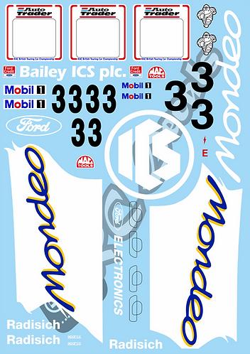 1/10 Touring Car Decal Sticker Set BTCC Ford Mondeo 1994