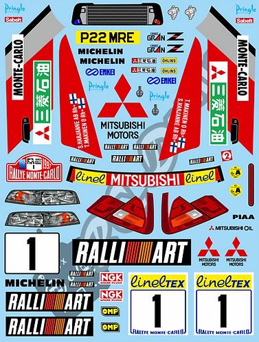 1/10 Decal Rally Set Mitsubishi Lancer Evo IV 1997