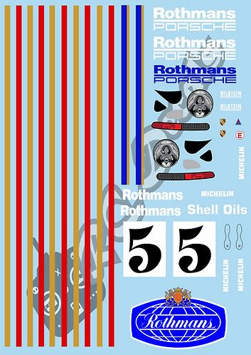 1/10 Decal Rally Set Porsche 911 Rothmans 1983
