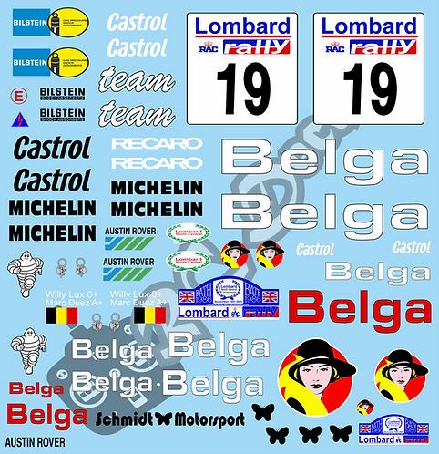 1/10 Decal Rally Set MG 6R4 Belga 1986