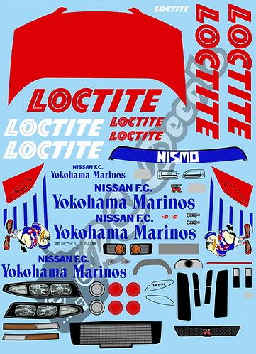 1/10 Touring Car Decal Set Nissan Skyline GTR Loctite 1995