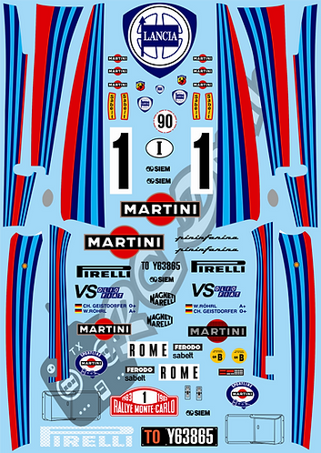 1/10 Decal Rally Set Lancia 037 Martini
