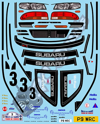 1/10 Decal Rally Set Subaru Impreza WRC 1998