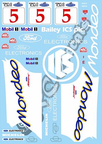 1/10 Touring Car Decal Sticker Set BTCC Ford Mondeo - 1993 - Mansell