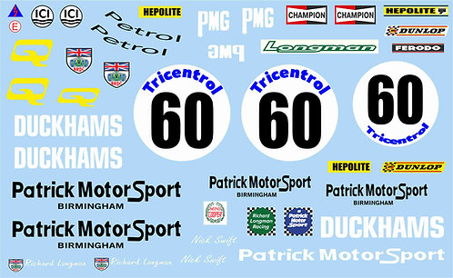 1/10 Mini Decal Set - Patrick Motorsport Mini