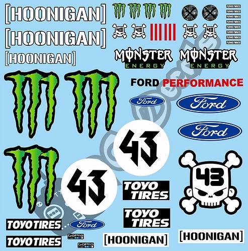 1/10 Ken Block Ford Hoonigan Car
