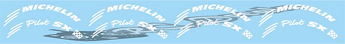 1/8 Michelin Pilot Tyre logo