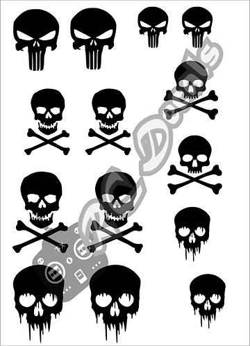 RC Airbrush Stencil Masks Skulls Style 2 for Lexan for Bodyshell