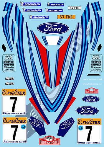 1/10 Decal Rally Set Ford Focus RS WRC 1999