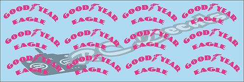 1/10 F1 Tires logos - Goodyear - Pink