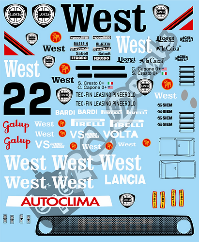 1/10 Decal Rally Set Lancia 037 West