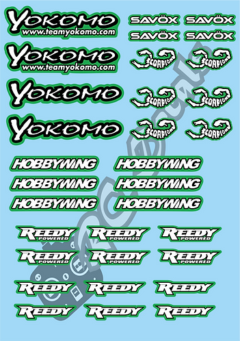 Yokomo- Savox - Hobbywing - Reedy - Scorpion Decals Choice of Colours Available