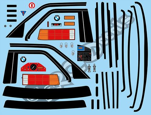 1/10 Decal Set BMW M3 road set