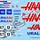 Thumbnail: F1 1/10 Decal Haas F1 - VF-21 2021 - Choice of tyre logo