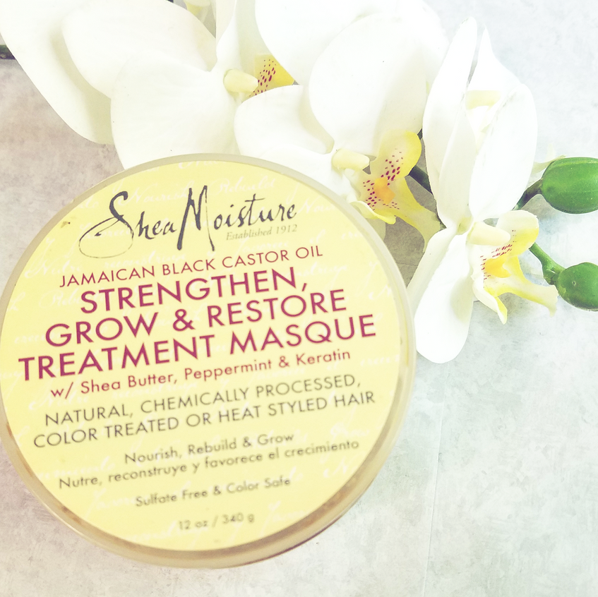 SHEA MOISTURE JAMAICAM BLACK CASTOR STRENGTHEN, GROW, RESTORE TREATMENT MASQUE