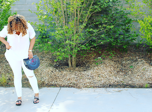 All White Outfit + All Black Accessories | Vintage Bamboo Bag | Naava Stylebook