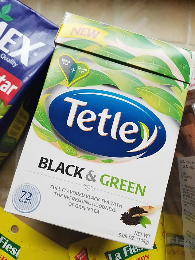 Tetley Black +Green Tea