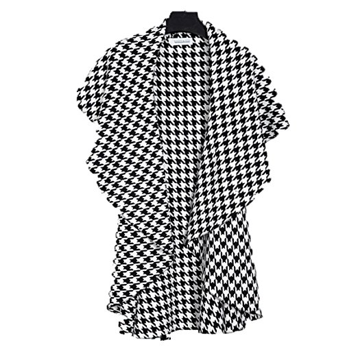 houndstooth eponcho cap