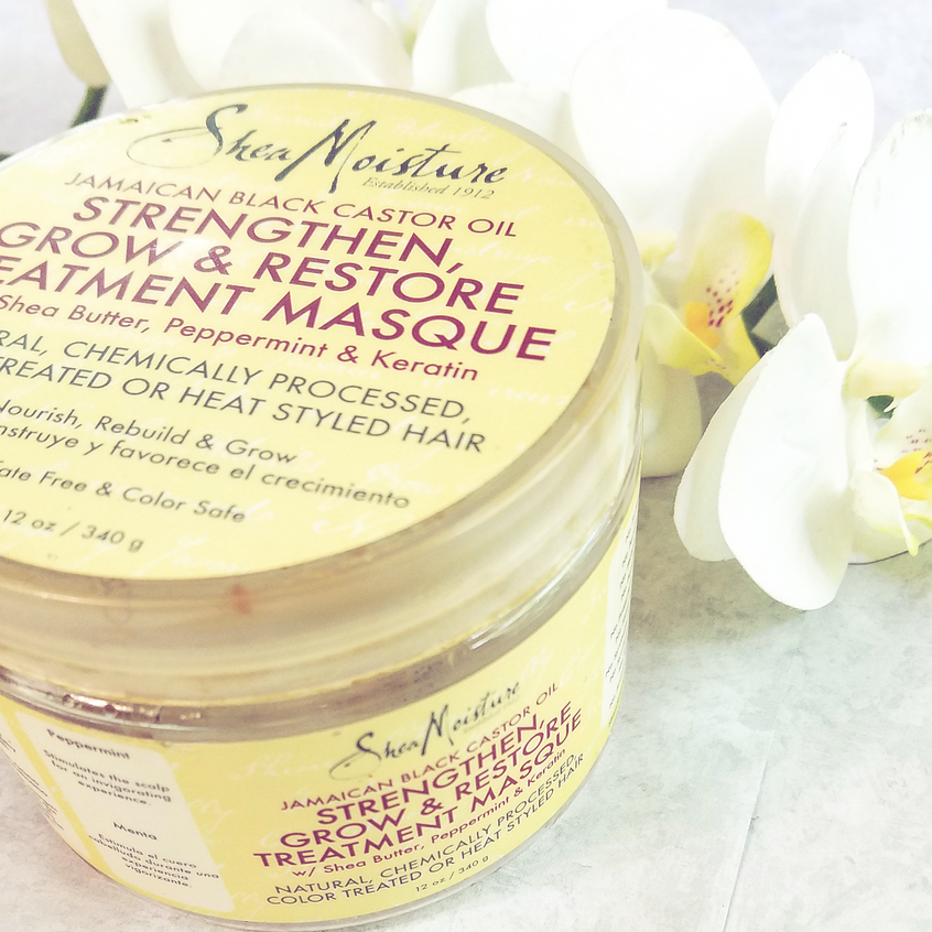 SHEA MOISTURE JAMAICAM BLACK CASTOR STRENGTHEN, GROW, RESTORE TREATMENT MASQUE1