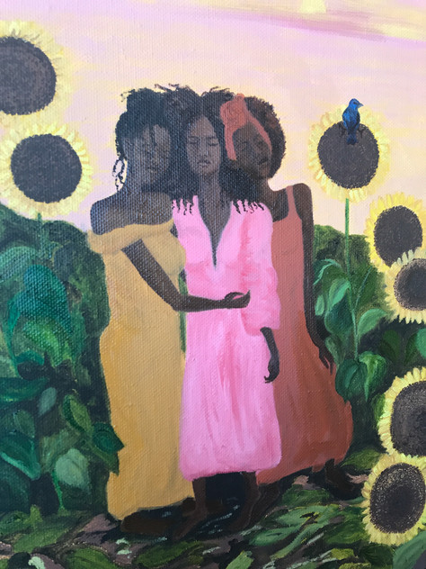 Three Women No. 1 Sunflowers