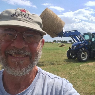 Picking up some hay