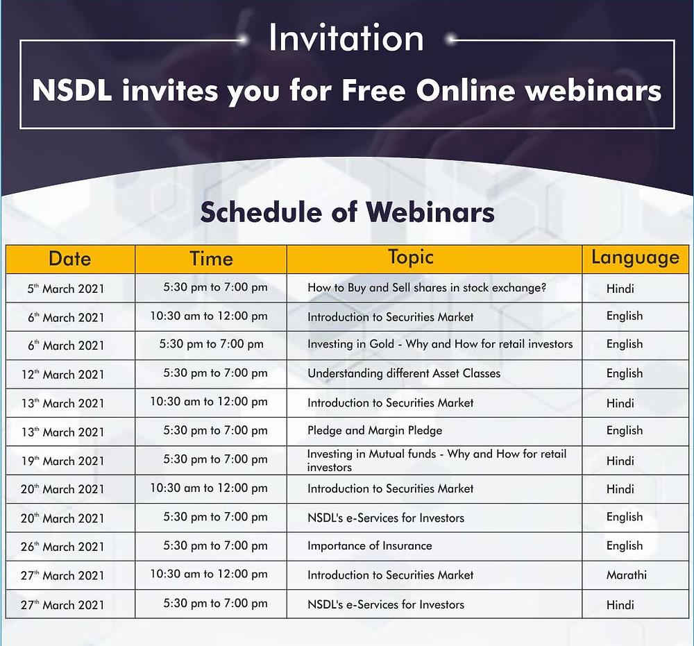 NSDL Investors Awareness Programmes