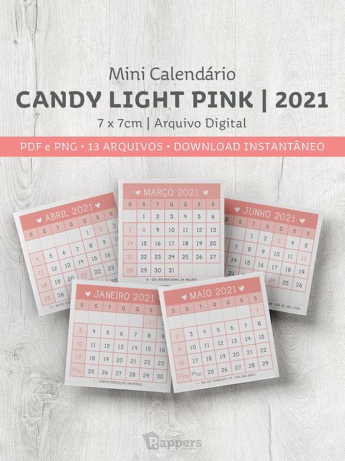 Arquivo | Mini Calendário Candy -  Light Pink 7x7cm