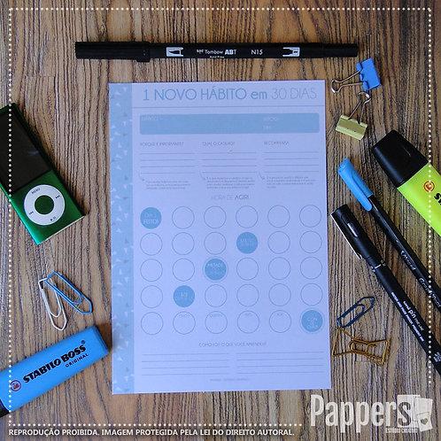 Desk Planner mensal - 1 novo Hábito em 30 dias!