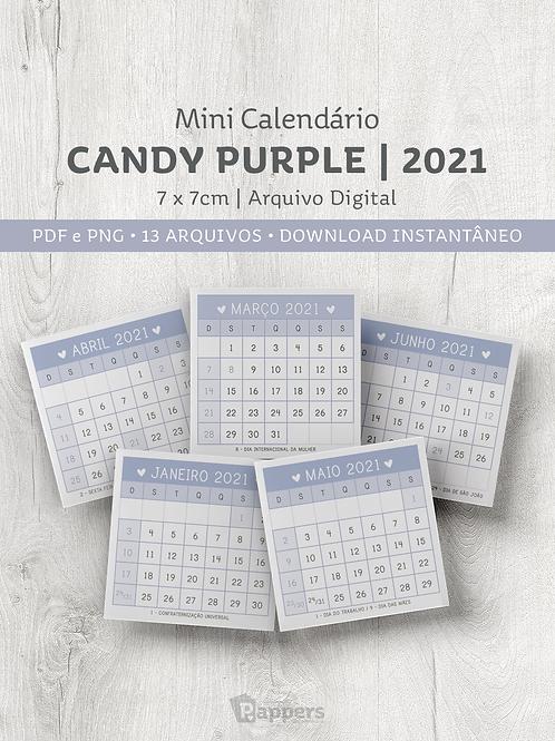 Arquivo | Mini Calendário Candy -  Purple 7x7cm