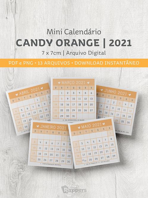 Arquivo   Mini Calendário Candy -  Orange 7x7cm
