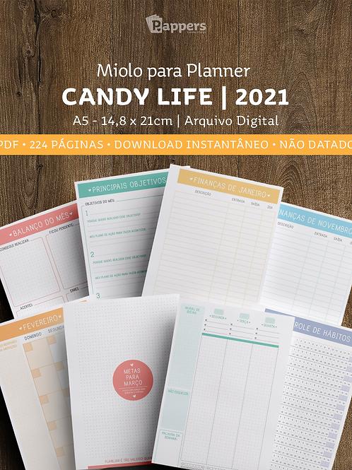 Miolo para Planner NÃO DATADO - Candy Life 2021