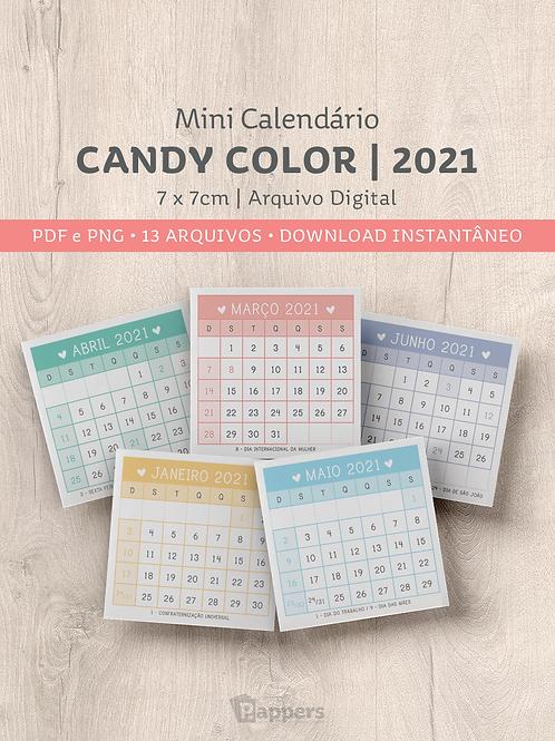 Arquivo   Mini Calendário CandyColors 7x7cm
