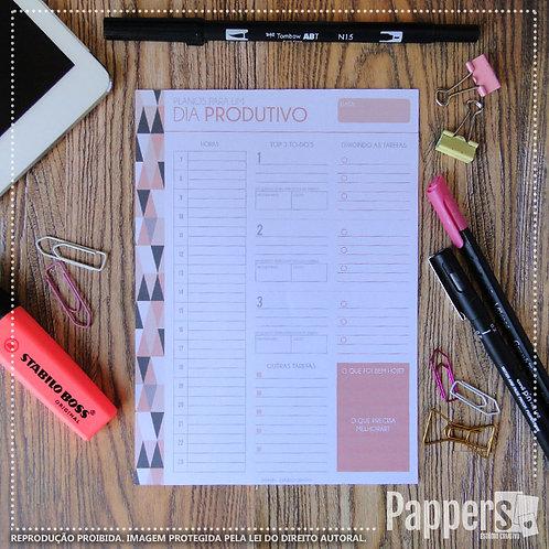 Desk Planner Diário | Planos para um dia Produtivo